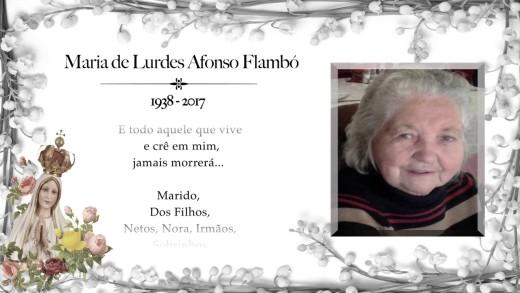 Condolências Maria de Lurdes Afonso Flambó  2017
