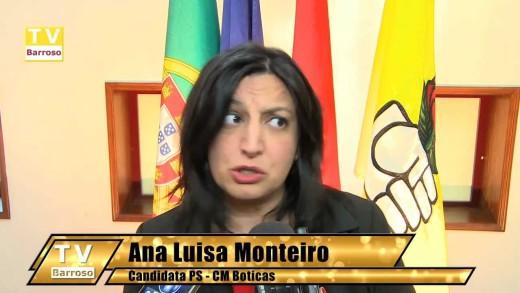 Ana Luísa Pires Monteiro do PS, apresenta candidatura à CM Boticas – 2013